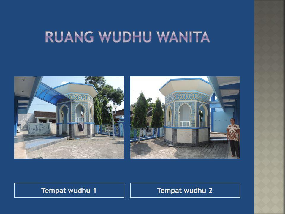 Tempat wudhu 1Tempat wudhu 2