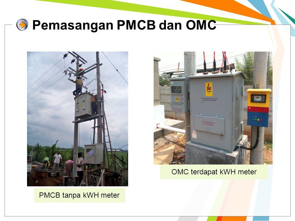 Pemasangan PMCB dan OMC PMCB tanpa kWH meter OMC terdapat kWH meter
