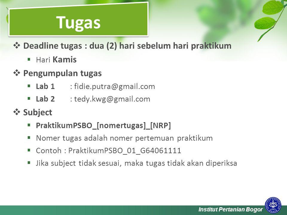 Institut Pertanian Bogor  Deitel and Deitel.Java: How To Program.