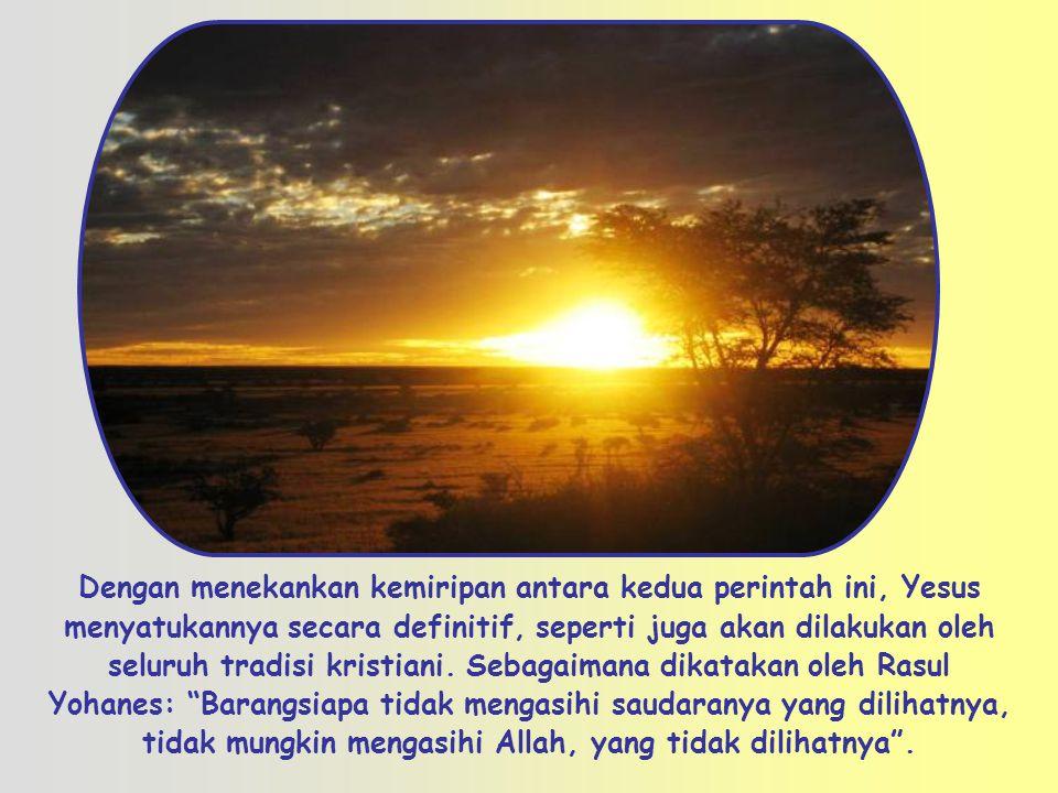Kasihilah sesamamu manusia seperti dirimu sendiri (Mt 22,39) Sabda Kehidupan , Sabda Kehidupan , renungan bulanan Gerakan Focolare.