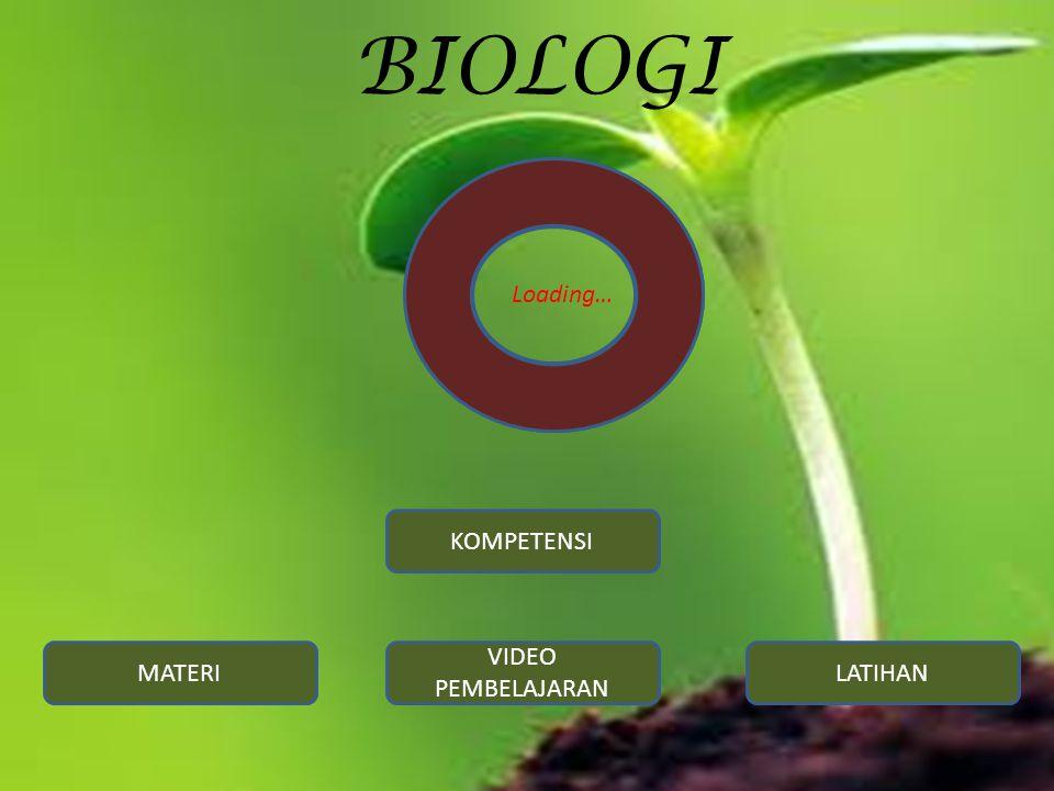 BIOLOGI KOMPETENSI MATERI VIDEO PEMBELAJARAN LATIHAN Loading…