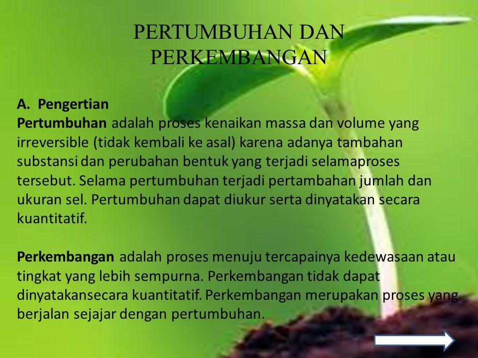 10.Tahap pertumbuhan dan perkembangan pada tumbuhan yaitu.