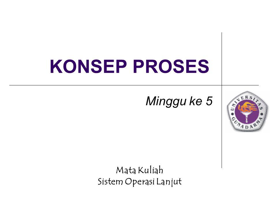 Mata Kuliah Sistem Operasi Lanjut KONSEP PROSES Minggu ke 5