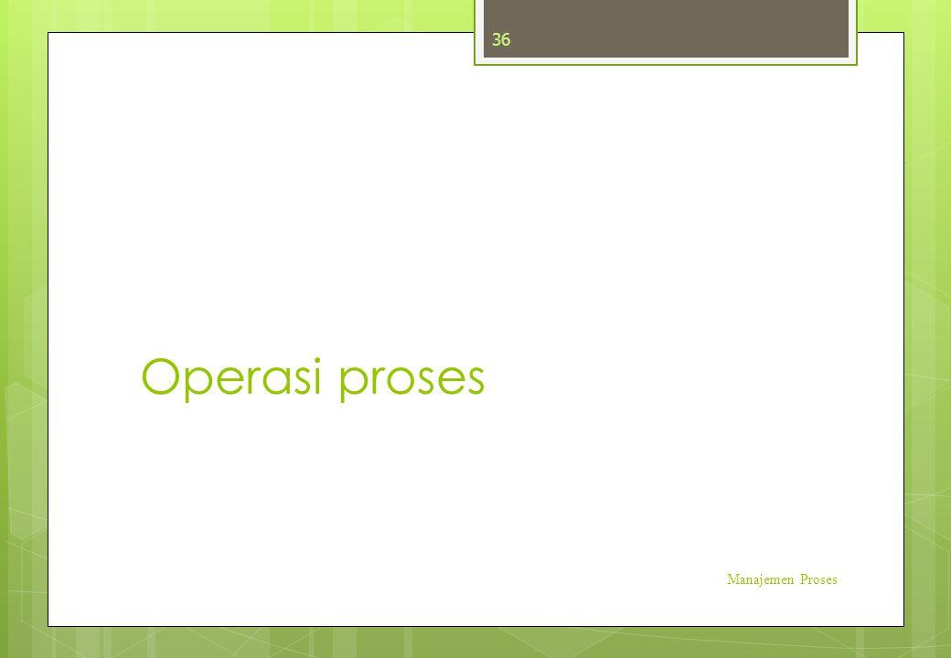 Operasi proses Manajemen Proses 36