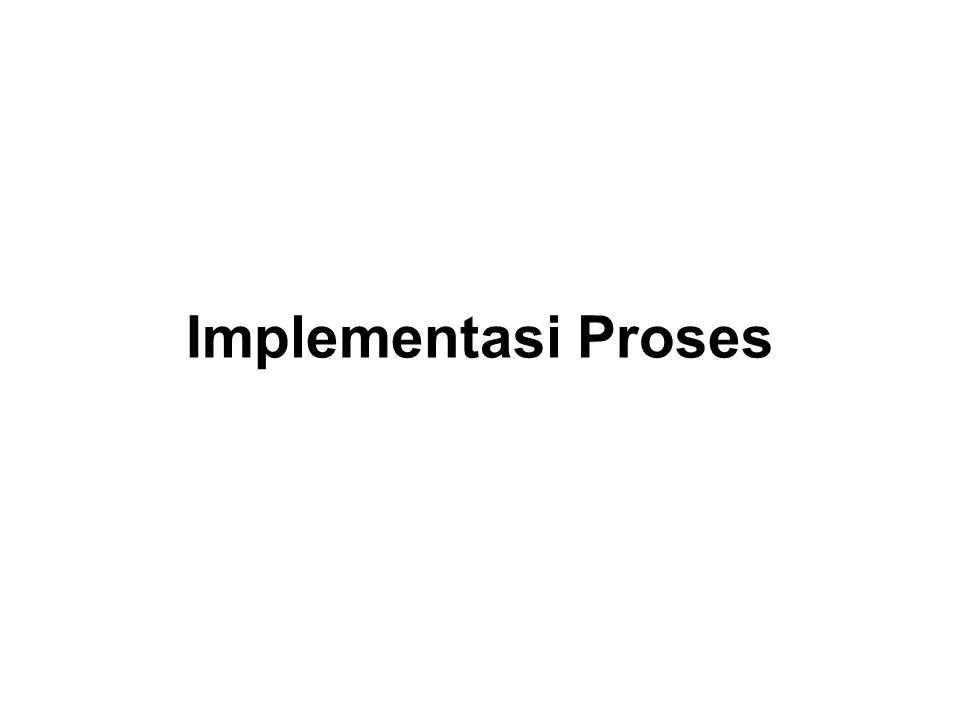 Tiap proses -> state proses -> dicatat SO -> beragam tabel/senarai –Tabel memori –Tabel I/O –Tabel berkas –Tabel proses