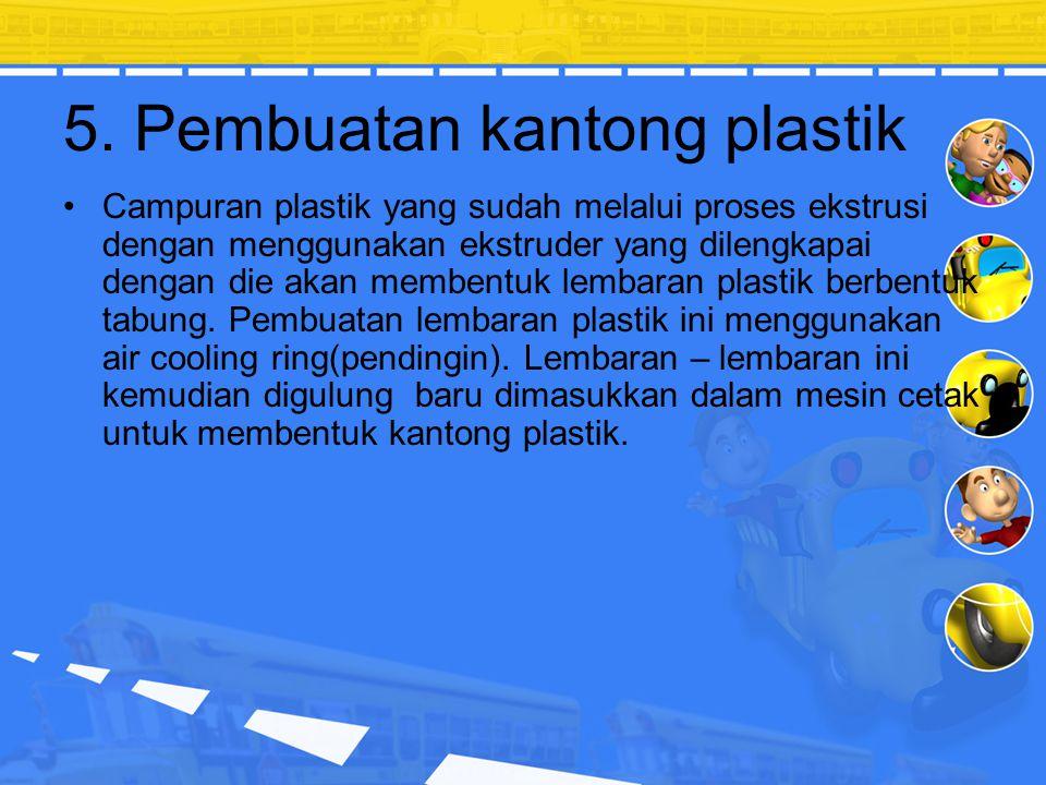 4.Pencampuran Panas (Hot Blending) Proses Pencampuran antara material bijih plastik dengan aditif agar menjadi homogen menggunakan panas untuk mempero