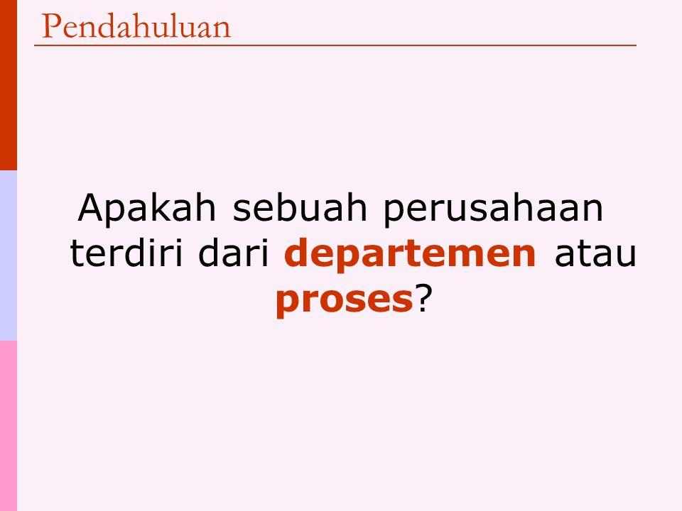 Pendahuluan Apakah sebuah perusahaan terdiri dari departemen atau proses?