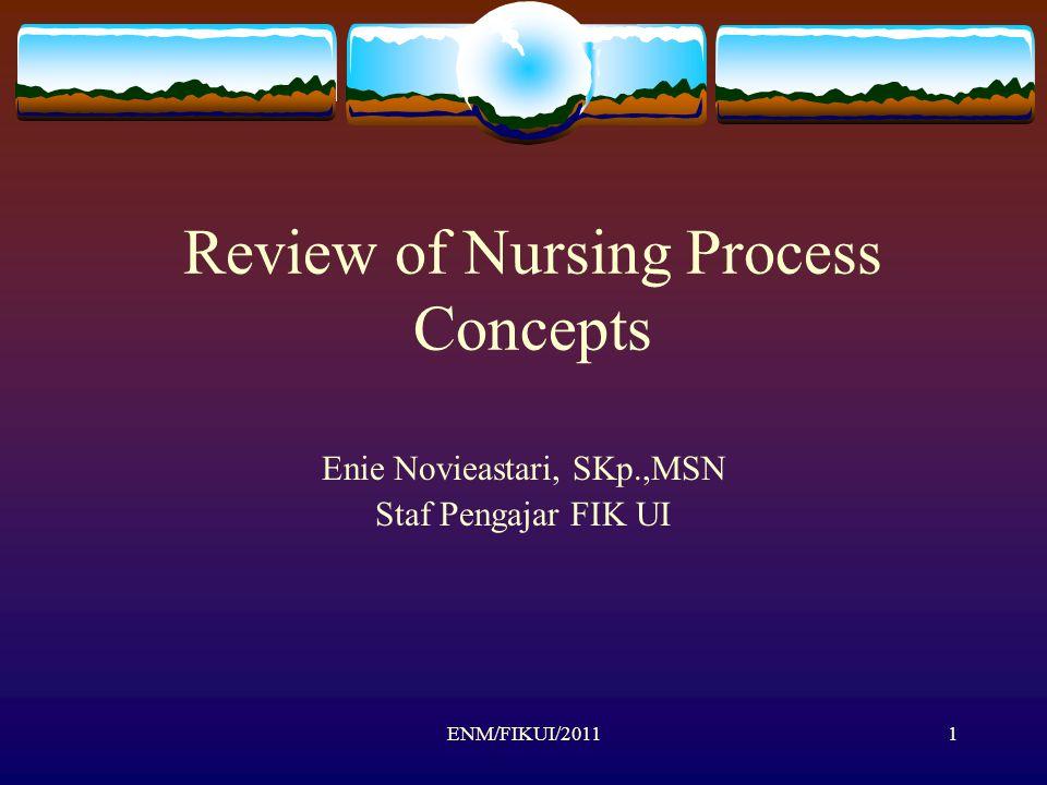 ENM/FIKUI/20111 Review of Nursing Process Concepts Enie Novieastari, SKp.,MSN Staf Pengajar FIK UI