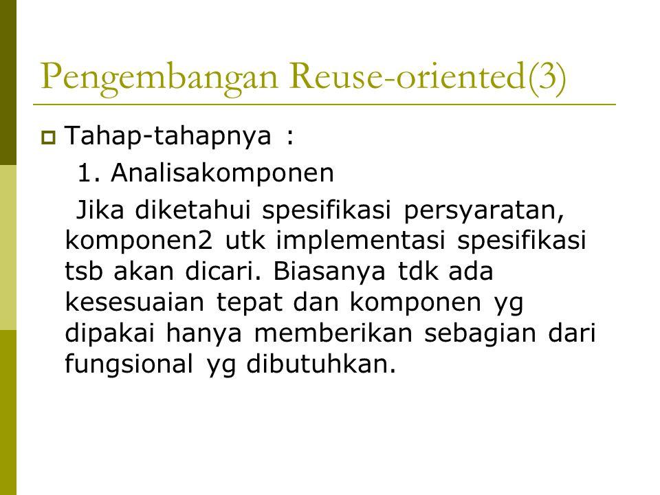 Pengembangan Reuse-oriented(3)  Tahap-tahapnya : 1.