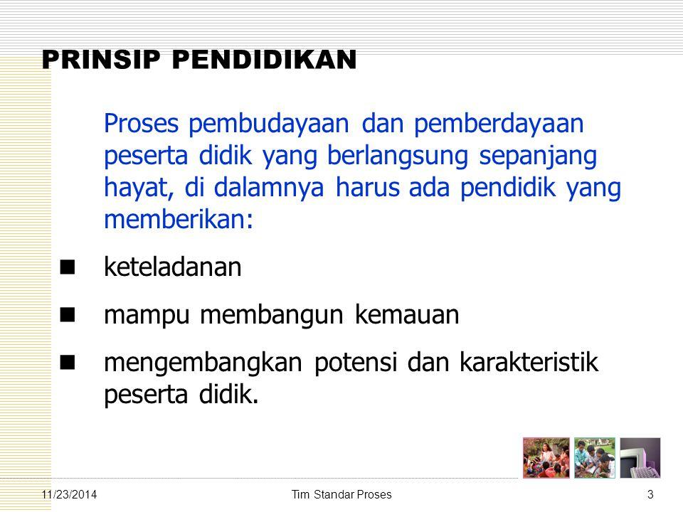 Tim Standar Proses3411/23/2014 Prinsip-prinsip Penyusunan RPP 3.