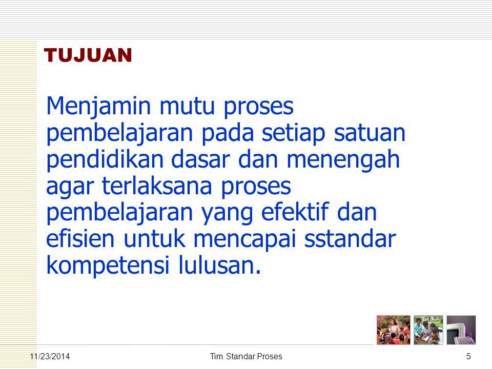 Tim Standar Proses3611/23/2014 Prinsip-prinsip Penyusunan RPP 5.
