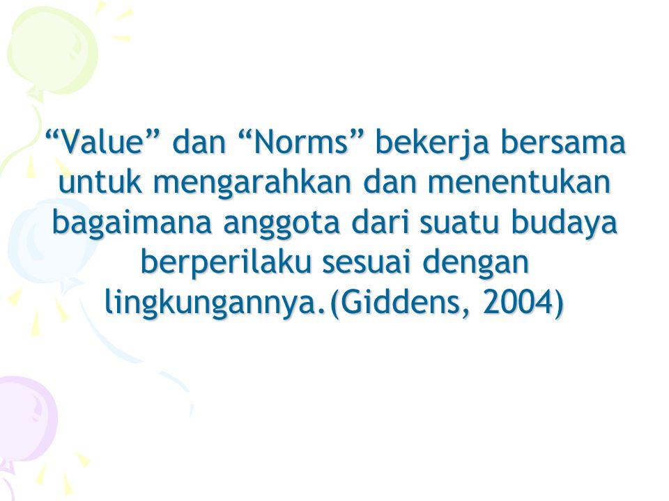 Sistim Nilai Basrowi menyatakan bahwa sistim nilai adalah nilai inti (core value) dari masyarakat yang dijunjung tinggi dan diakui oleh setiap manusia