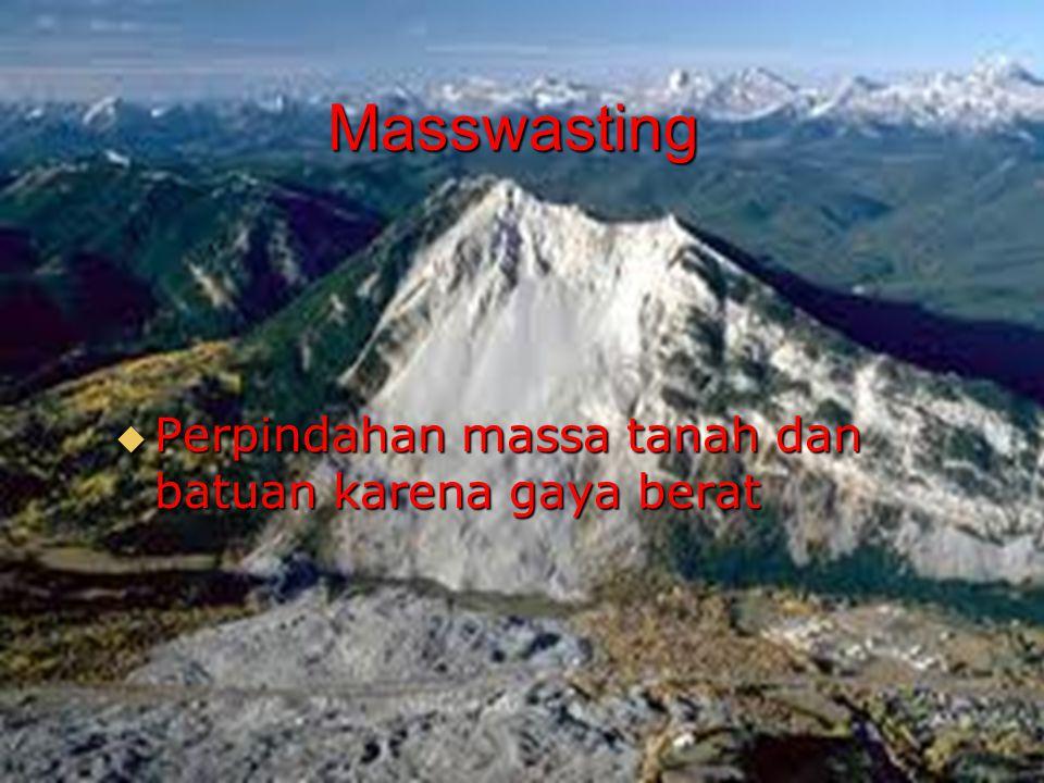  Perpindahan massa tanah dan batuan karena gaya berat Masswasting