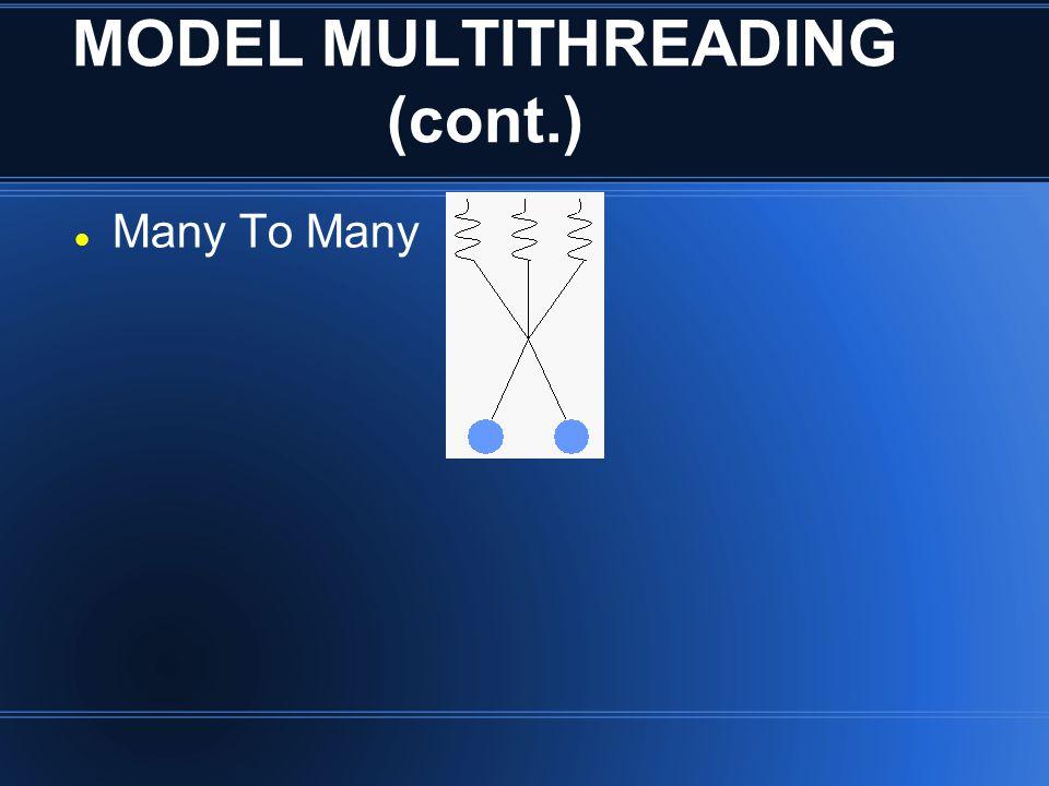 MODEL MULTITHREADING (cont.) Many To Many