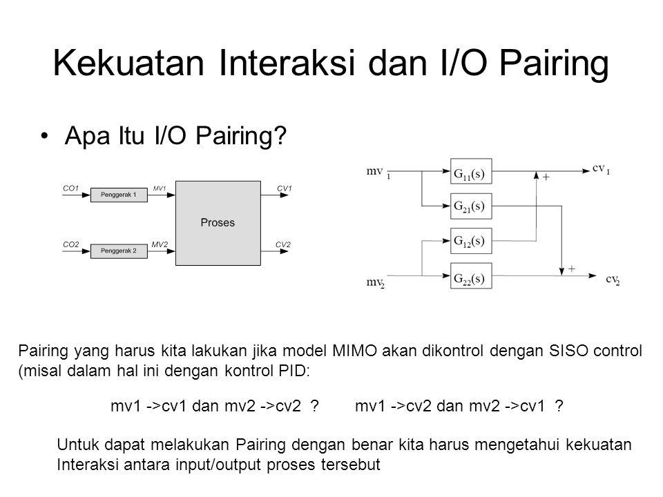 Kekuatan Interaksi dan I/O Pairing Apa Itu I/O Pairing? mv1 ->cv1 dan mv2 ->cv2 ?mv1 ->cv2 dan mv2 ->cv1 ? Pairing yang harus kita lakukan jika model