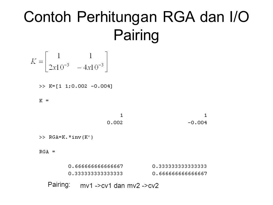 Contoh Perhitungan RGA dan I/O Pairing Pairing: mv1 ->cv1 dan mv2 ->cv2