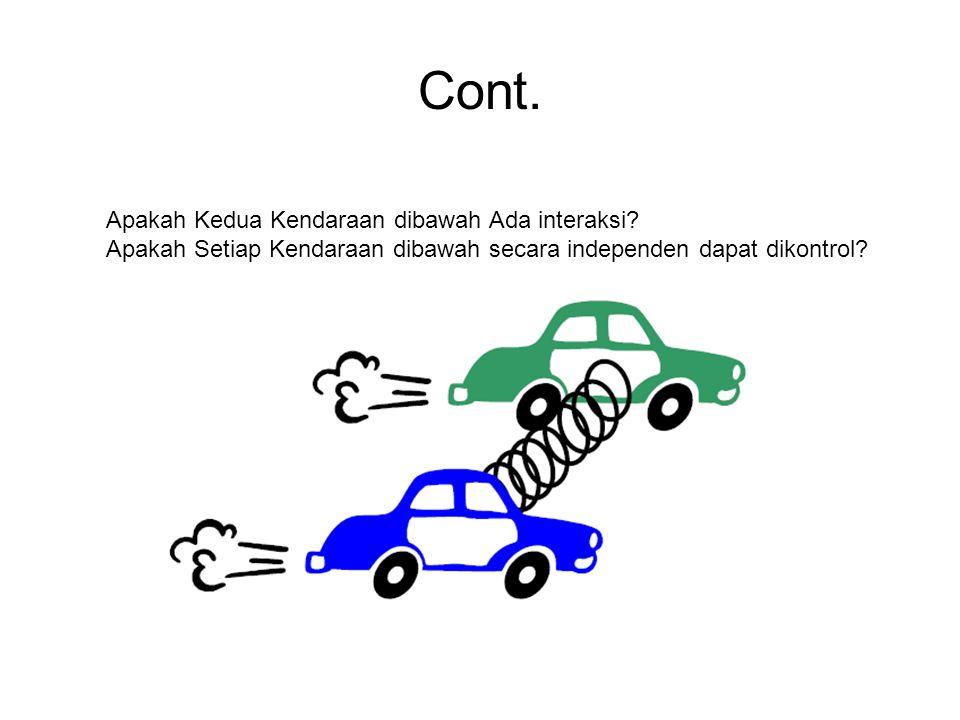 Cont. Apakah Kedua Kendaraan dibawah Ada interaksi? Apakah Setiap Kendaraan dibawah secara independen dapat dikontrol?