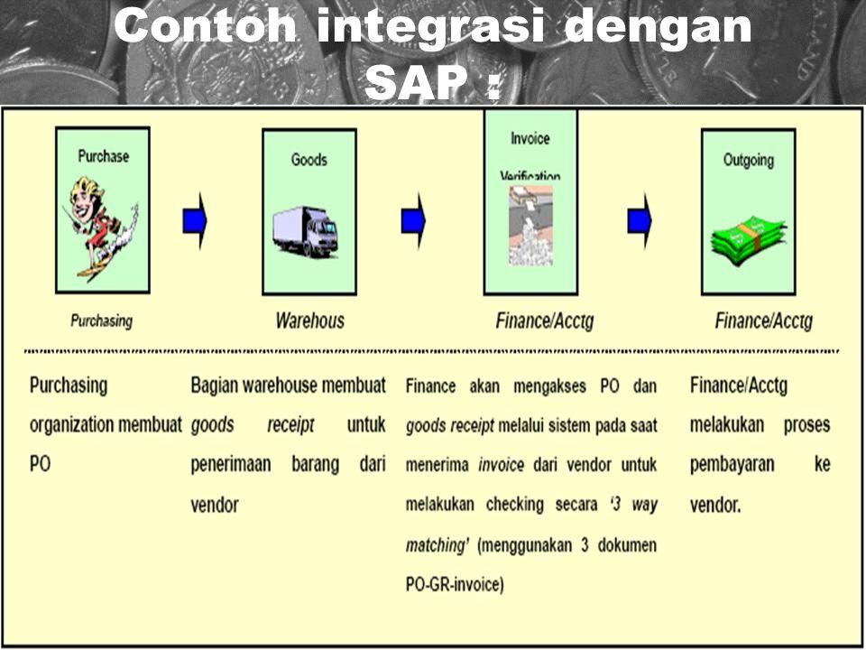 18 Contoh integrasi dengan SAP :
