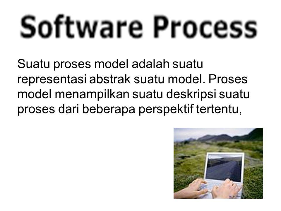 Suatu proses model adalah suatu representasi abstrak suatu model. Proses model menampilkan suatu deskripsi suatu proses dari beberapa perspektif terte