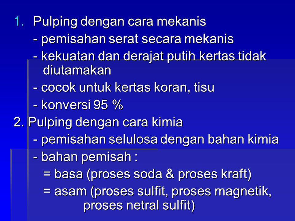 - dasar pemilihan proses : 1.bahan baku yang digunakan 2.