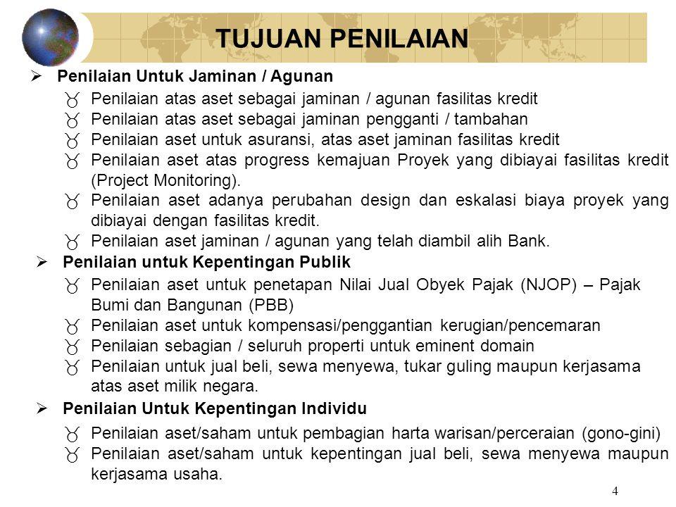 5 IDENTIFIKASI PROPERTI Lokasi Objek Penilaian - Alamat - Desa / Kelurahan, Kecamatan, Kotamadya / Kabupaten, Propinsi - Keterangan Khusus Jika lebih dari satu Lokasi uraikan semuanya .