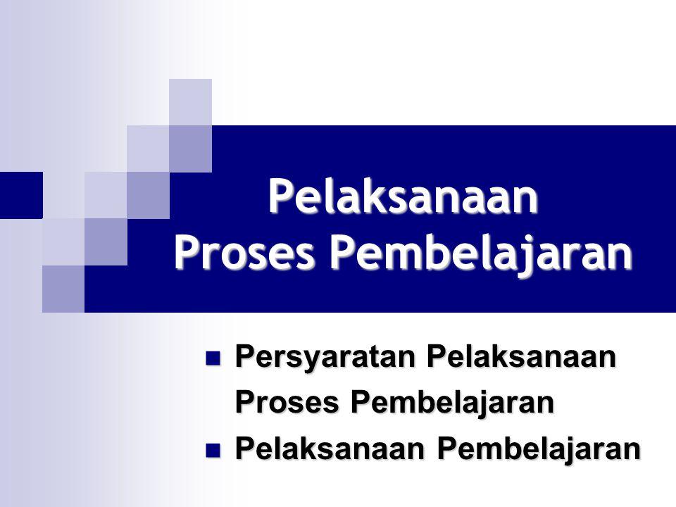 Pelaksanaan Proses Pembelajaran Persyaratan Pelaksanaan Persyaratan Pelaksanaan Proses Pembelajaran Pelaksanaan Pembelajaran Pelaksanaan Pembelajaran