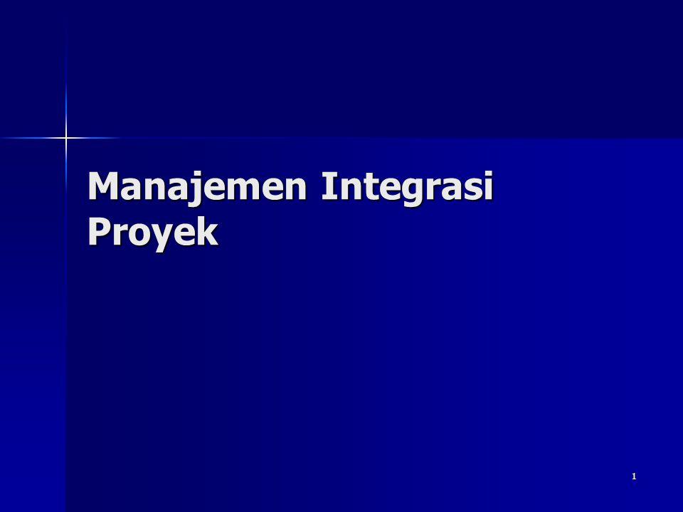 1 Manajemen Integrasi Proyek