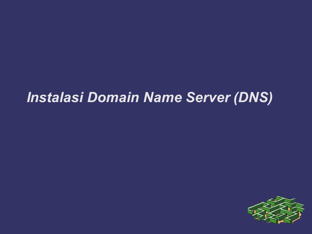Instalasi Domain Name Server (DNS)