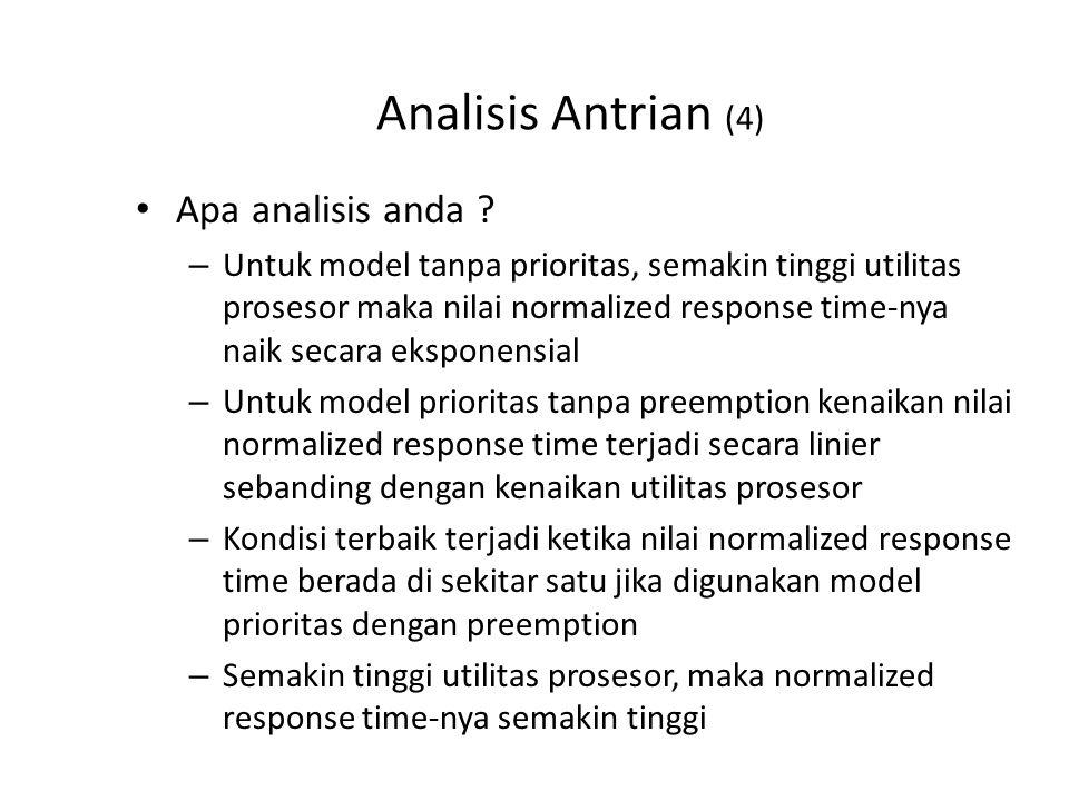 Analisis Antrian (4) Apa analisis anda .