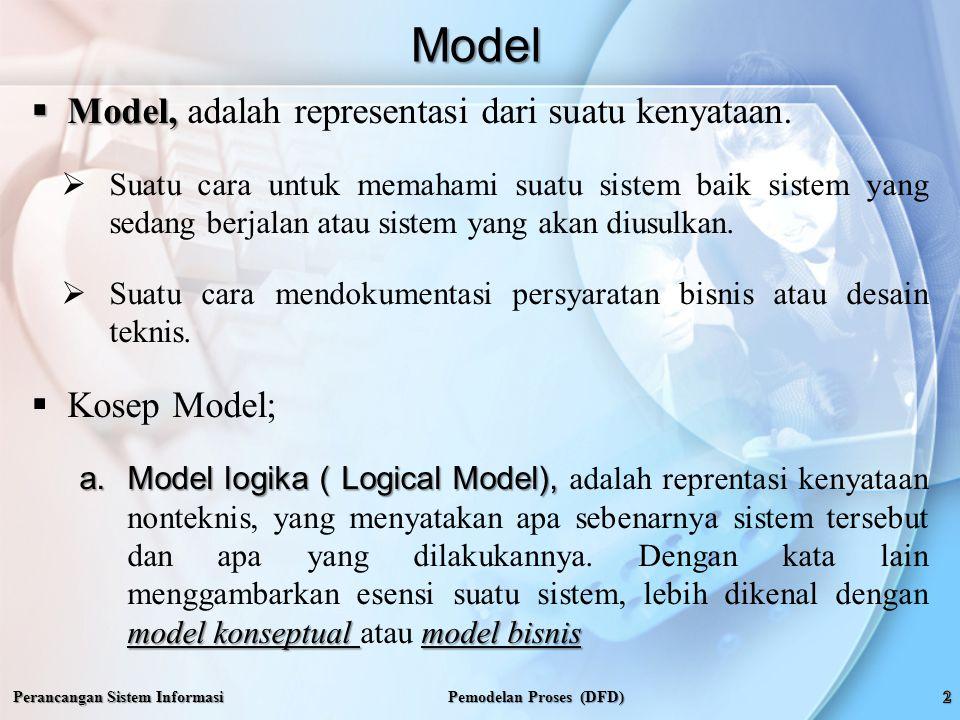 b.Model Fisik ( Physical Model), b.Model Fisik ( Physical Model), adalah reprentasi kenyataan teknis dan nonteknis, yang menyatakan apa sebenarnya sistem tersebut, apa yang dilakukannya, serta bagaimana sistem tersebut diimplemtasikan secara fisik dan teknis.