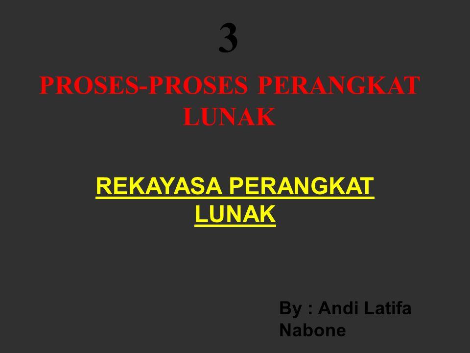 PROSES-PROSES PERANGKAT LUNAK REKAYASA PERANGKAT LUNAK 3 By : Andi Latifa Nabone