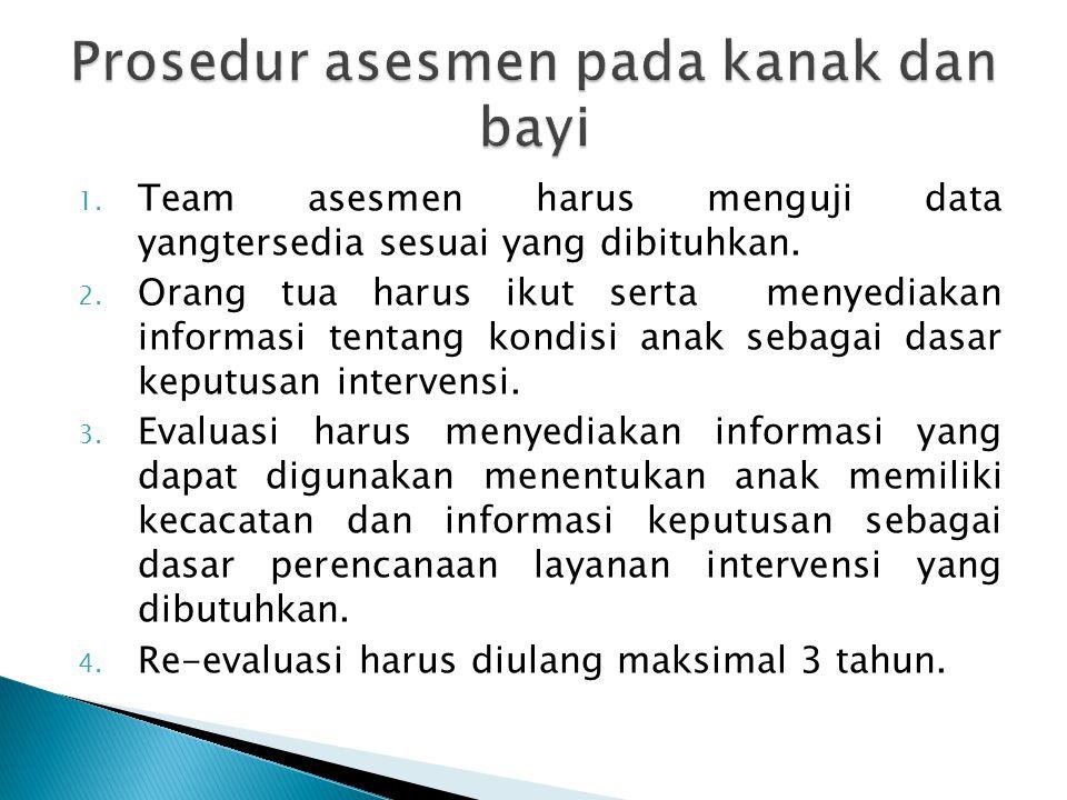 1.Team asesmen harus menguji data yangtersedia sesuai yang dibituhkan.