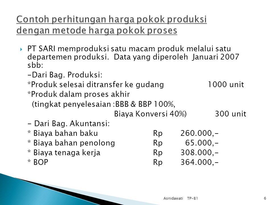 Penggolongan biaya dalam metode harga pokok proses 1. Biaya Bahan, terdiri atas : 1. Biaya bahan baku 2. Biaya bahan penolong 2. Biaya Tenaga Kerja 1.
