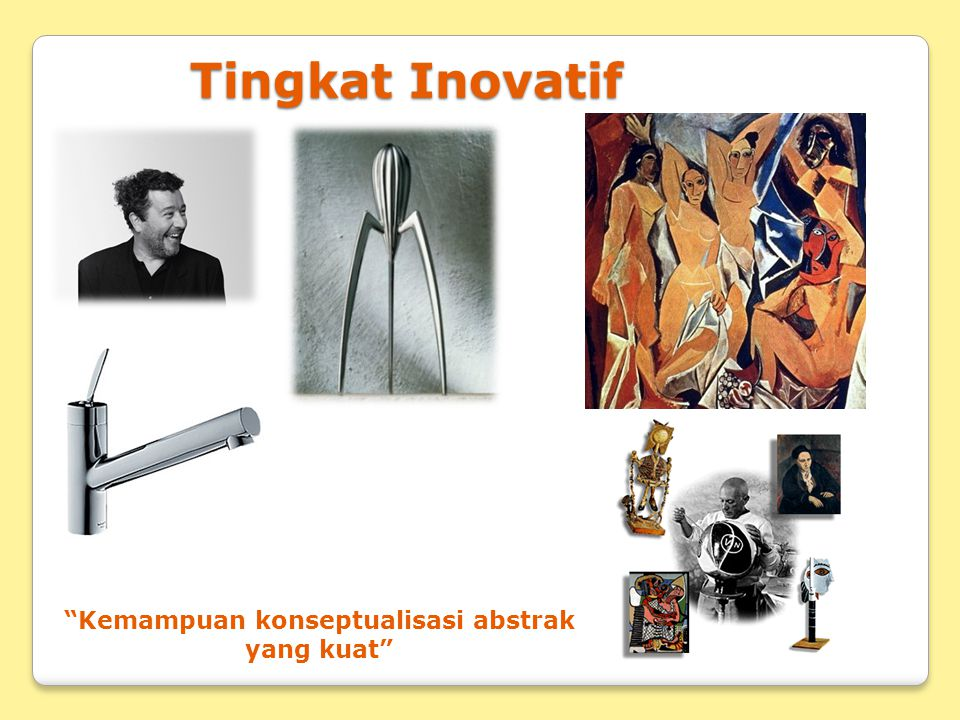 "Tingkat Inovatif ""Kemampuan konseptualisasi abstrak yang kuat"""
