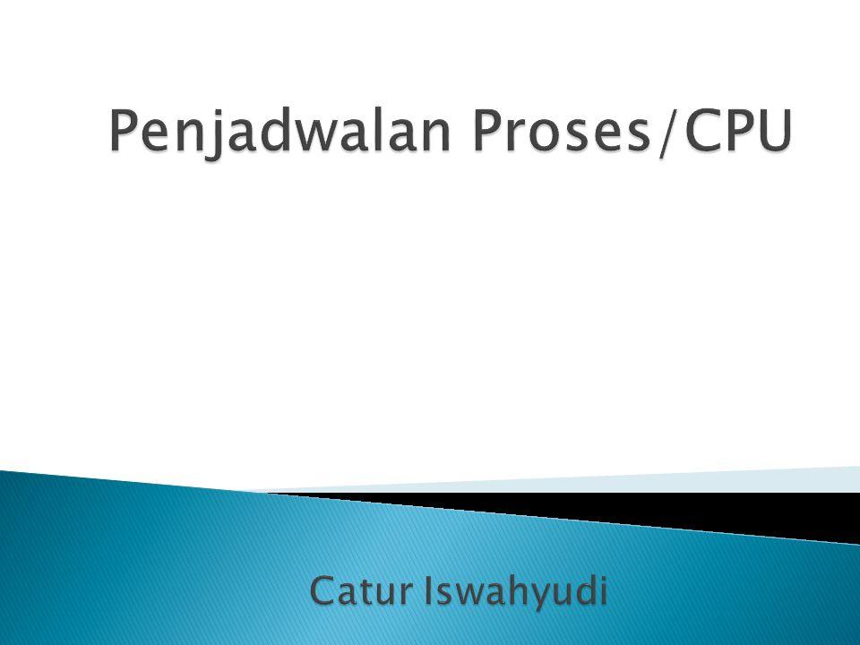  Konsep Proses  CPU Scheduler  Algoritma Penjadwalan Proses  Latihan Soal