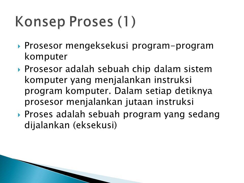  Prosesor mengeksekusi program-program komputer  Prosesor adalah sebuah chip dalam sistem komputer yang menjalankan instruksi program komputer. Dala