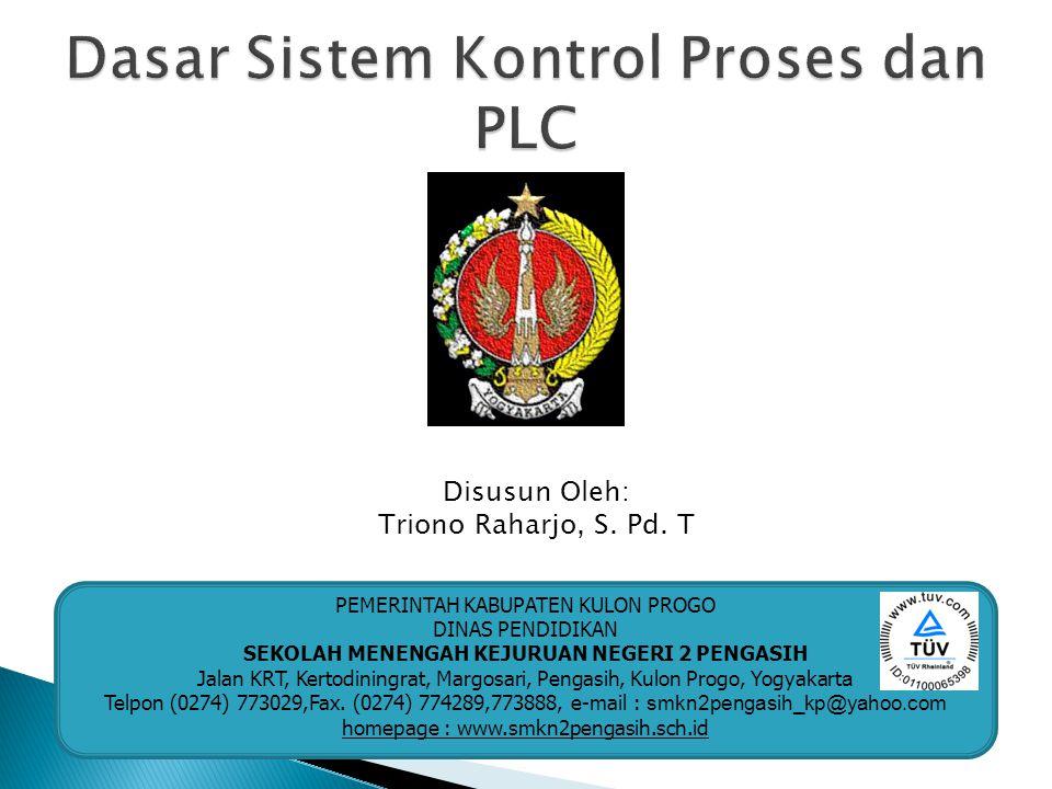 Keterangan : Periksa status masukan, pertama PLC akan melihat masing-masing status keluaran apakah kondisinya sedang ON atau OFF.