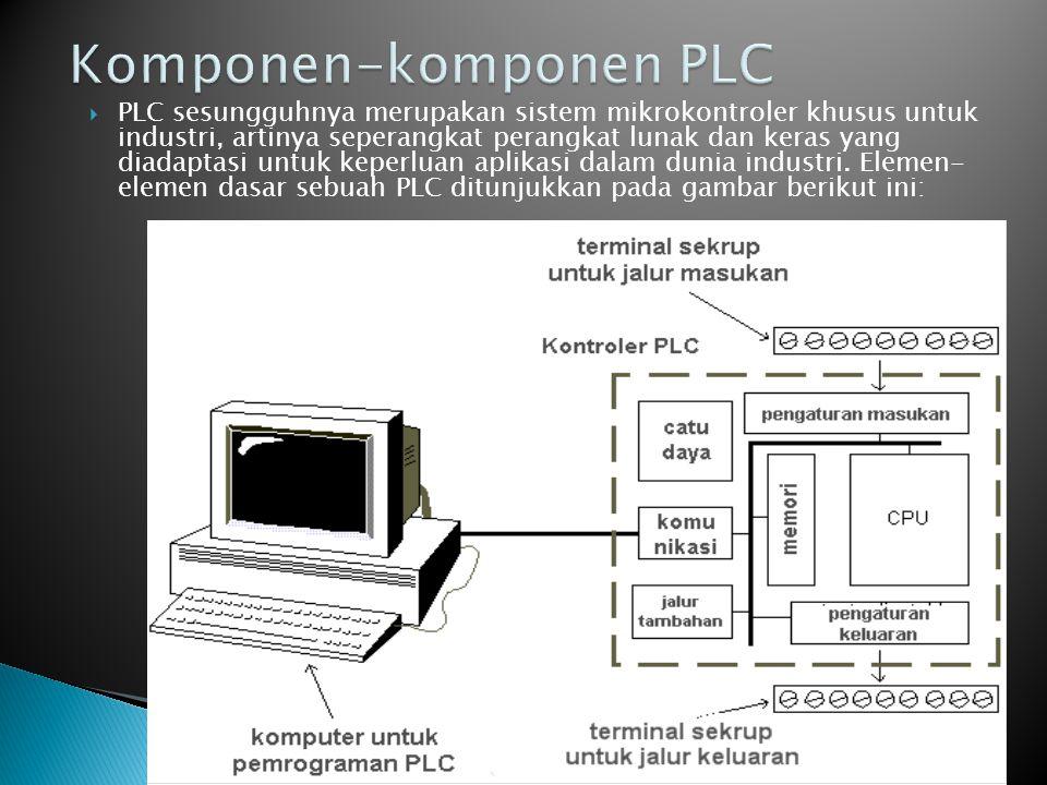  PLC sesungguhnya merupakan sistem mikrokontroler khusus untuk industri, artinya seperangkat perangkat lunak dan keras yang diadaptasi untuk keperlua
