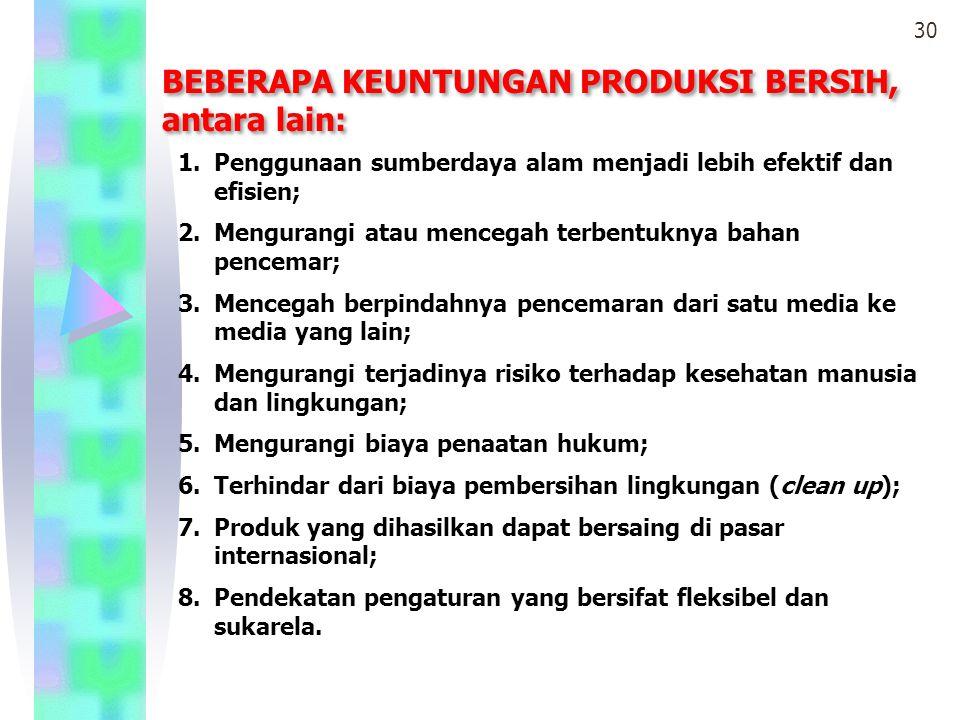MINIMALISASI LIMBAH Minimalisasi limbah merupakan implementasi untuk mengurangi jumlah dan tingkat cemaran limbah yang dihasilkan dari suatu proses produksi dengan cara: 1.