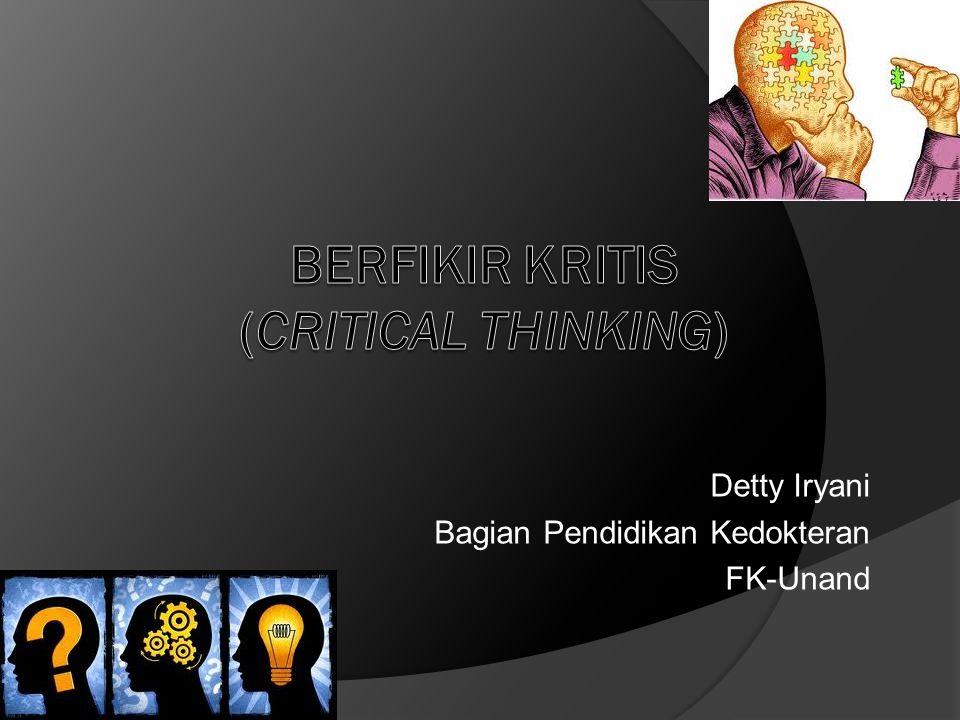 Detty Iryani Bagian Pendidikan Kedokteran FK-Unand