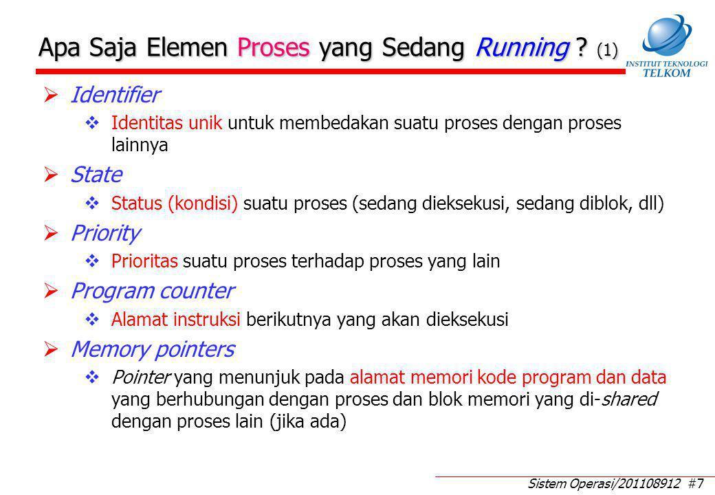 Sistem Operasi/201108912 #8 Apa Saja Elemen Proses yang Sedang Running .