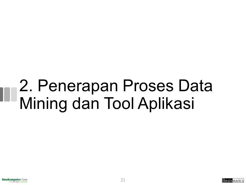 2. Penerapan Proses Data Mining dan Tool Aplikasi 21