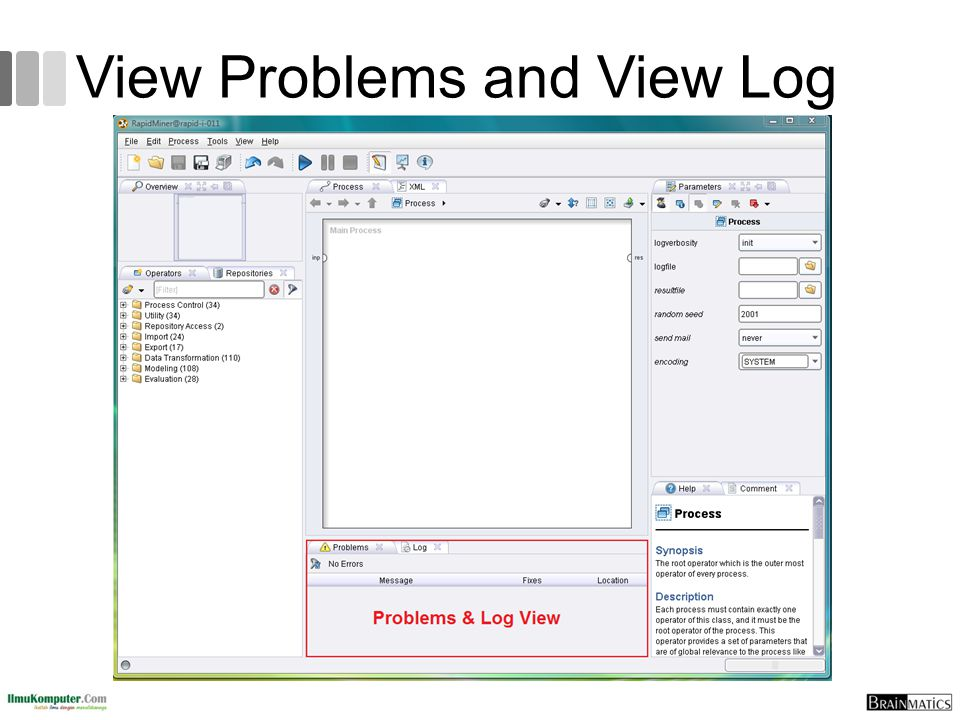 View Problems and View Log