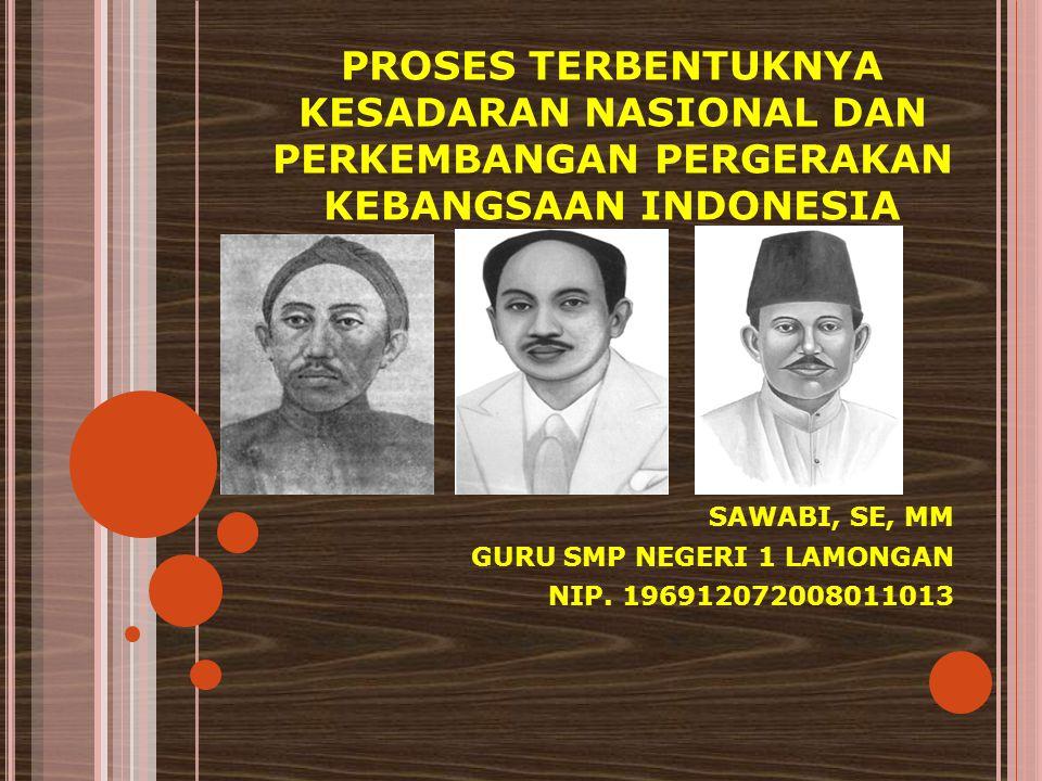 KESADARAN NASIONAL Kesadaran nasional adalah suatu sikap yang dimiliki suatu bangsa berkaitan dengan tanggung jawab hak dan kewajibannya.