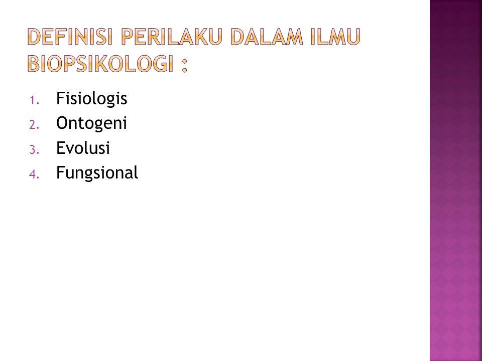 1. Fisiologis 2. Ontogeni 3. Evolusi 4. Fungsional