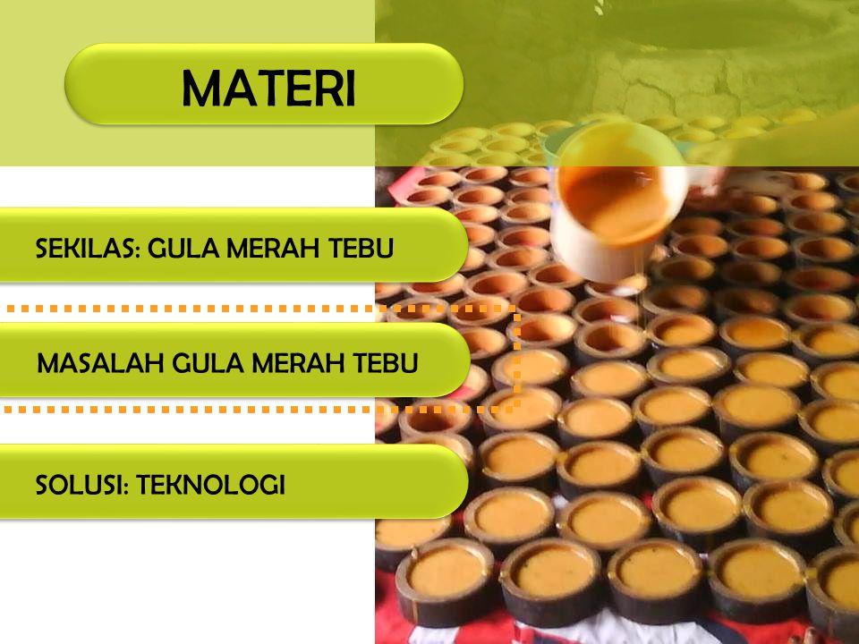 MASALAH GULA MERAH TEBU Kadar air Kadar air adalah persentase air yang dikandung oleh gula tebu, yaitu perbandingan antara berat air yang terdapat dalam gula tebu dengan berat total gula