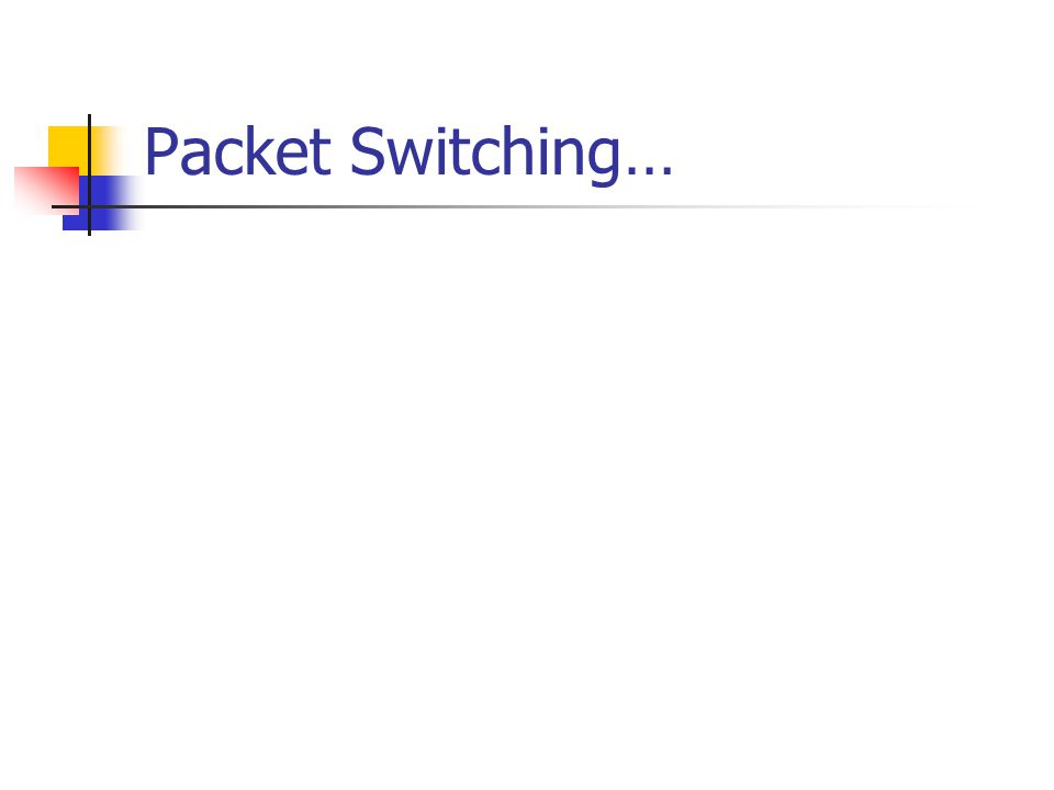 Packet Switching…