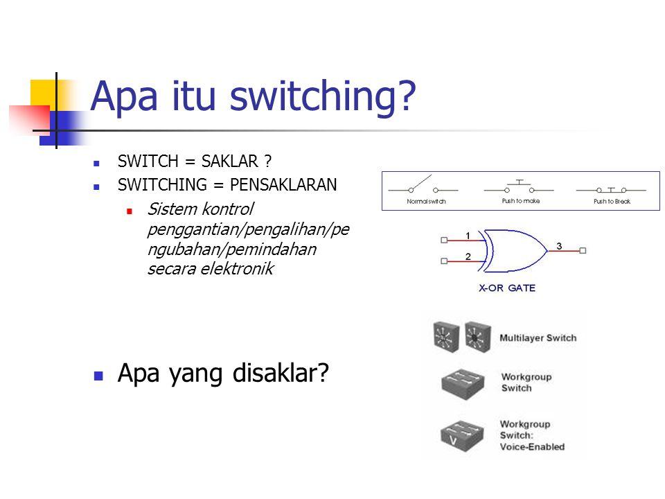 Keuntungan Packet Switched Efisiensi line sangat tinggi; hubungan single node-to-node dapat dishare secara dinamis oleh banyak paket.