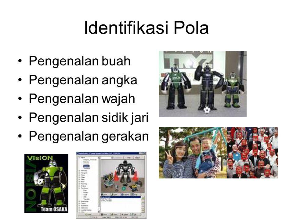 Identifikasi Pola Pengenalan buah Pengenalan angka Pengenalan wajah Pengenalan sidik jari Pengenalan gerakan