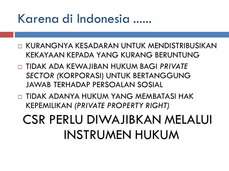 Karena di Indonesia......